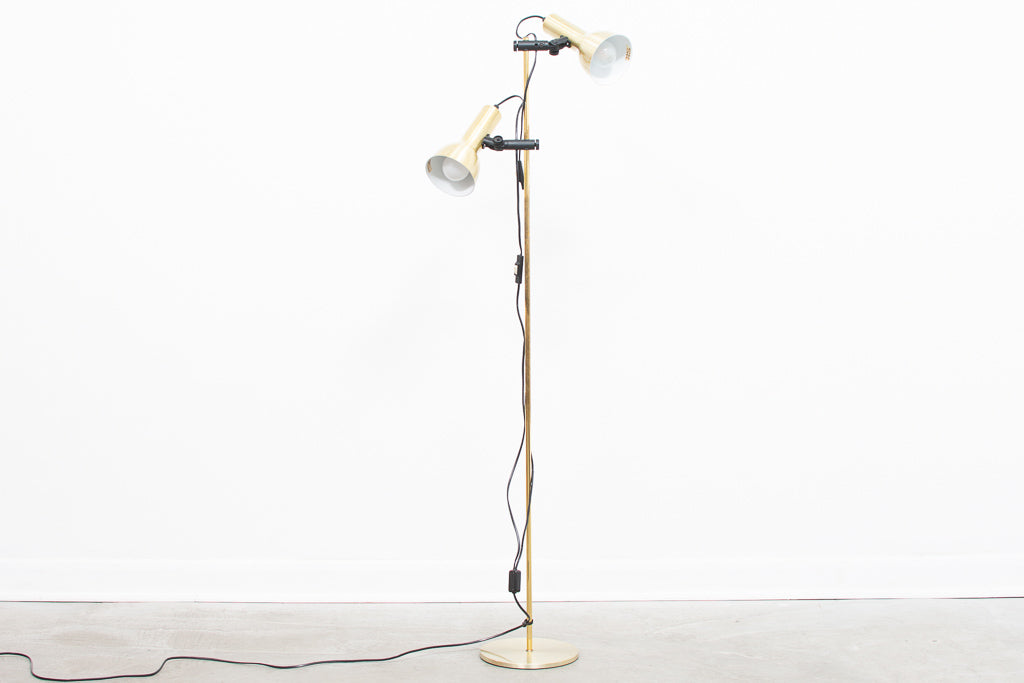 Vintage floor light with light brass finish