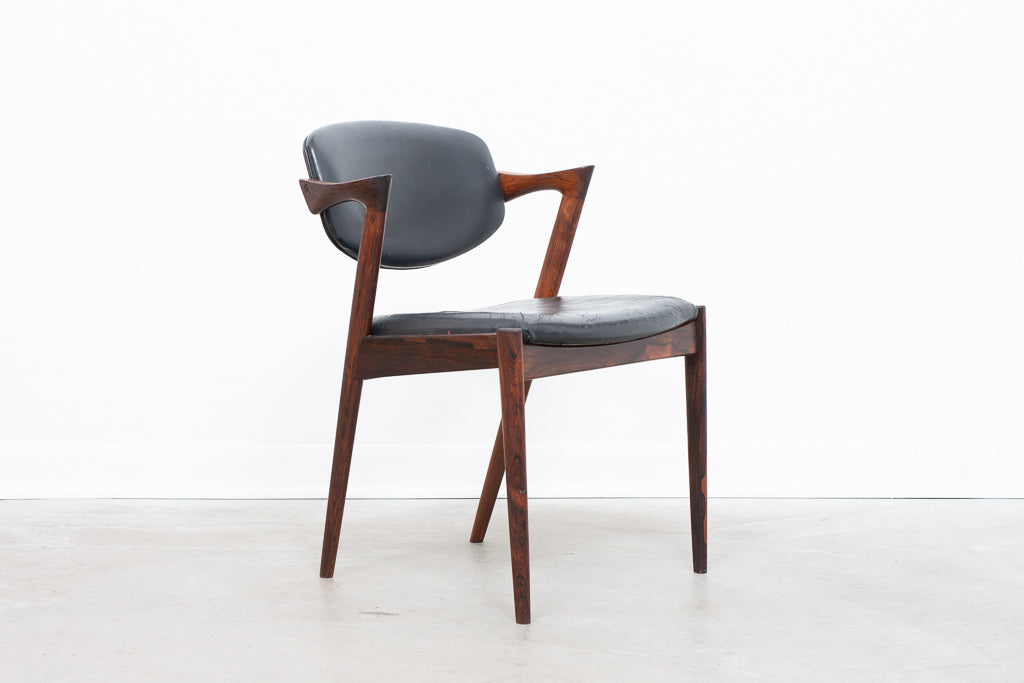 Model 42 chair in rosewood by Kai Kristiansen