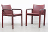 Pair of leather armchairs by Matteo Grassi
