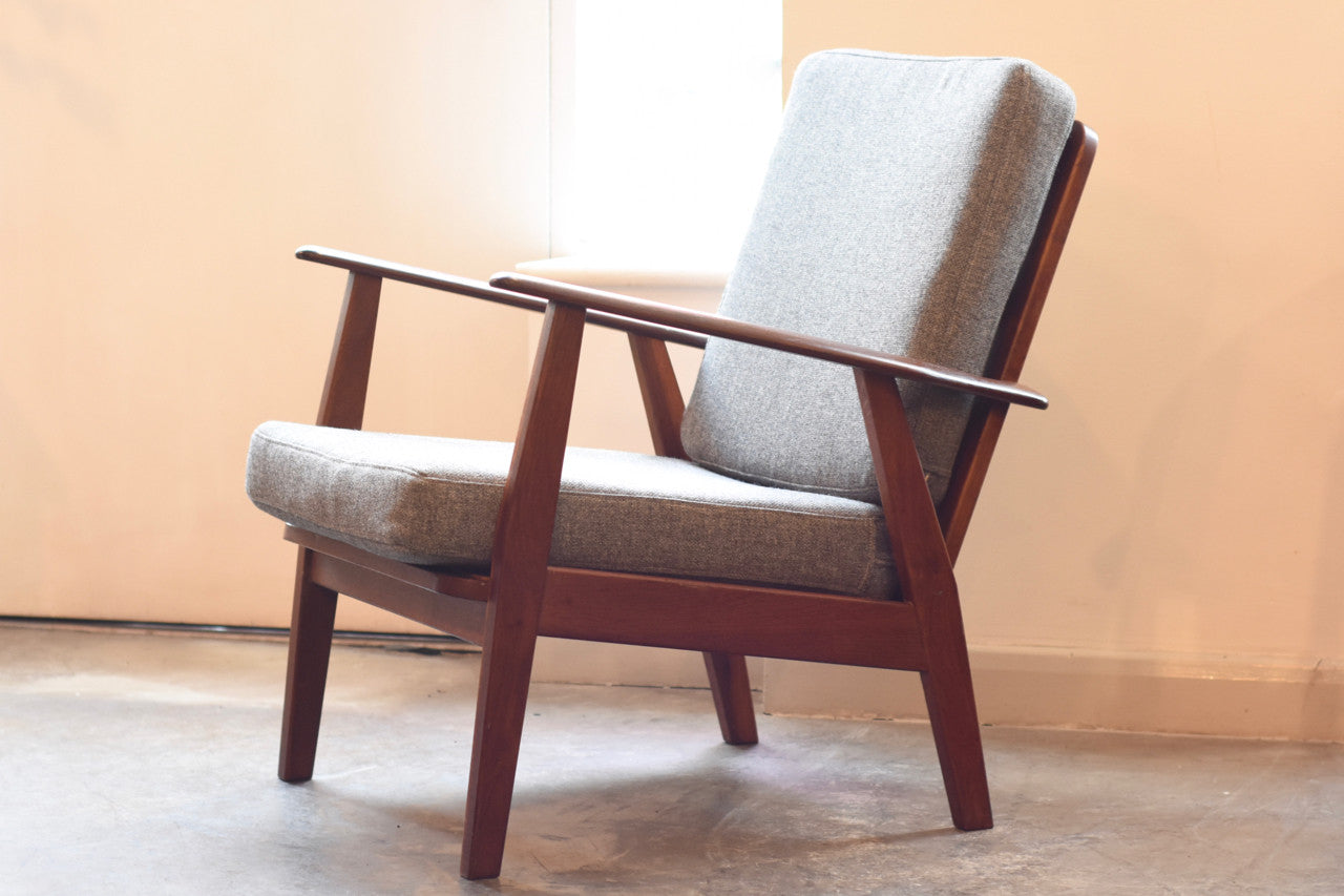 Just in: Teak + oak lounge chair