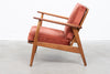 1960s teak + oak lounger
