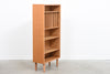 Tall + narrow 1970s oak storage cabinet