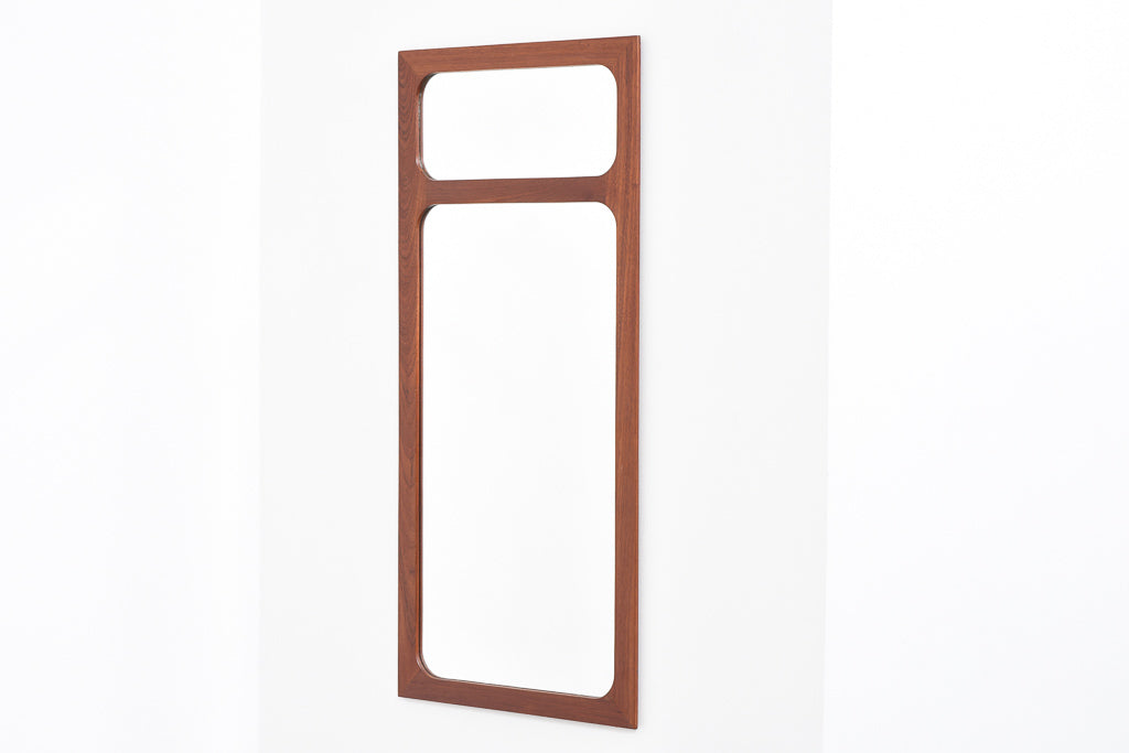 Teak-framed mirror by Børge Larsen
