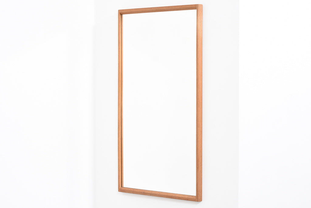 Oak-framed mirror by Aksel Kjærsgård