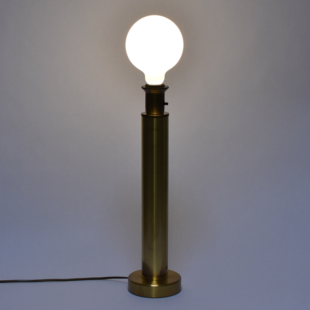 1960s tall brass table lamp
