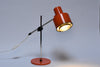 Vintage table lamp with orange shade
