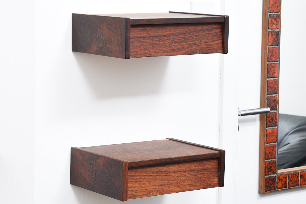 Pair of 1960s rosewood bedside drawers
