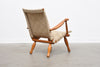 1950s Swedish pine + hessian lounge chair