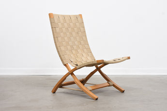 1960s oak folding chair