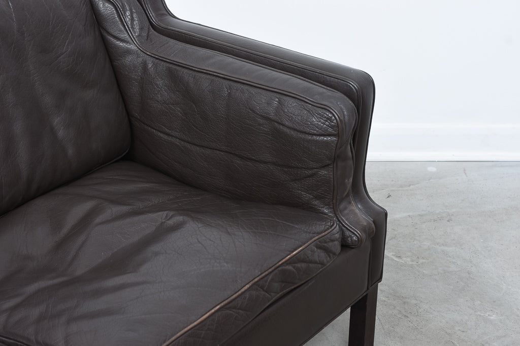 1960s Danish leather two seater