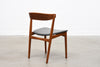 Teak chair with curved back