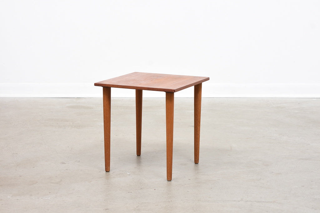 Square teak side table by H.C. Andersen