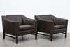 Two available: Vintage leather club chairs