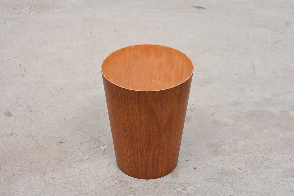 1960s teak waste basket