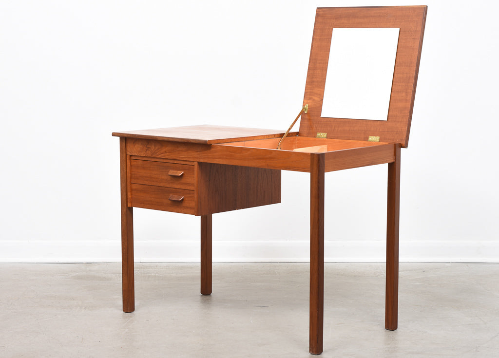 1960s teak desk with mirror