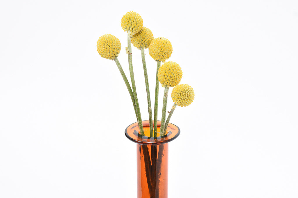 1960s amber glass vase by Kastrup