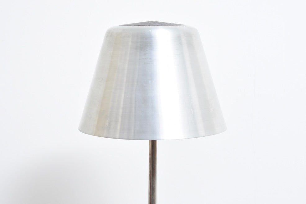 SwedenAntikJan18 Spun aluminium floor lamp with perforated diffuser