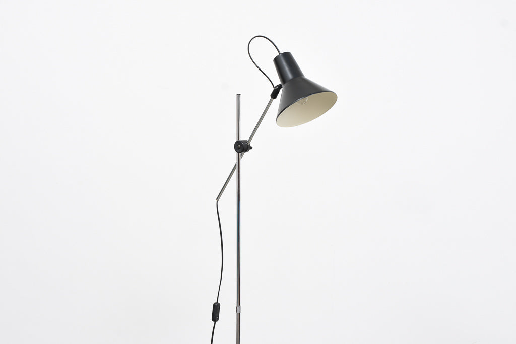 Vintage floor lamp with black finish