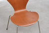 Series 7 chair in teak by Arne Jacobsen
