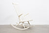 1950s lacquered beech rocking chair