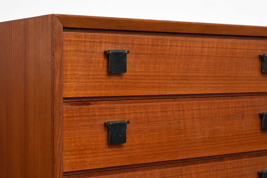 Low chest of eight drawers in teak