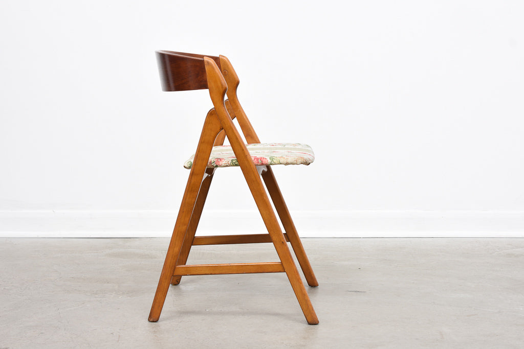 Set of six 1960s dining chairs with teak backs by Henning Kjærnulf