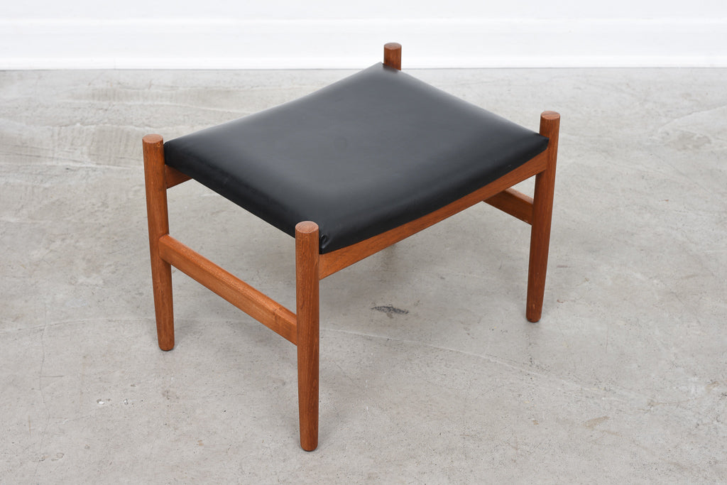 Teak-framed foot stool by Spotterup