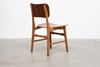 Single 1960s teak + oak chair