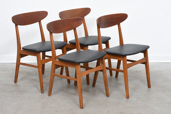 Set of four dining chairs by Farstrup