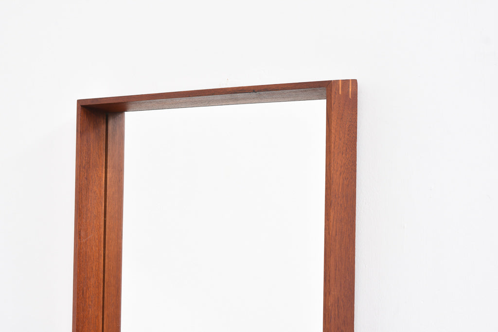 Full length Danish teak mirror