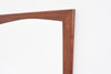 Mid-sized vintage mirror with teak frame