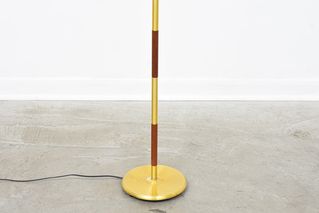 Danish teak + brass floor lamp