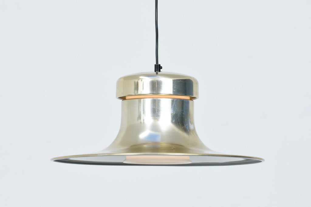 Vintage ceiling lamp with brass finish