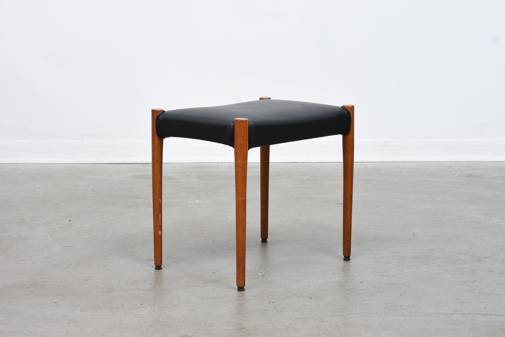 Model 80A teak stool by Niels Møller