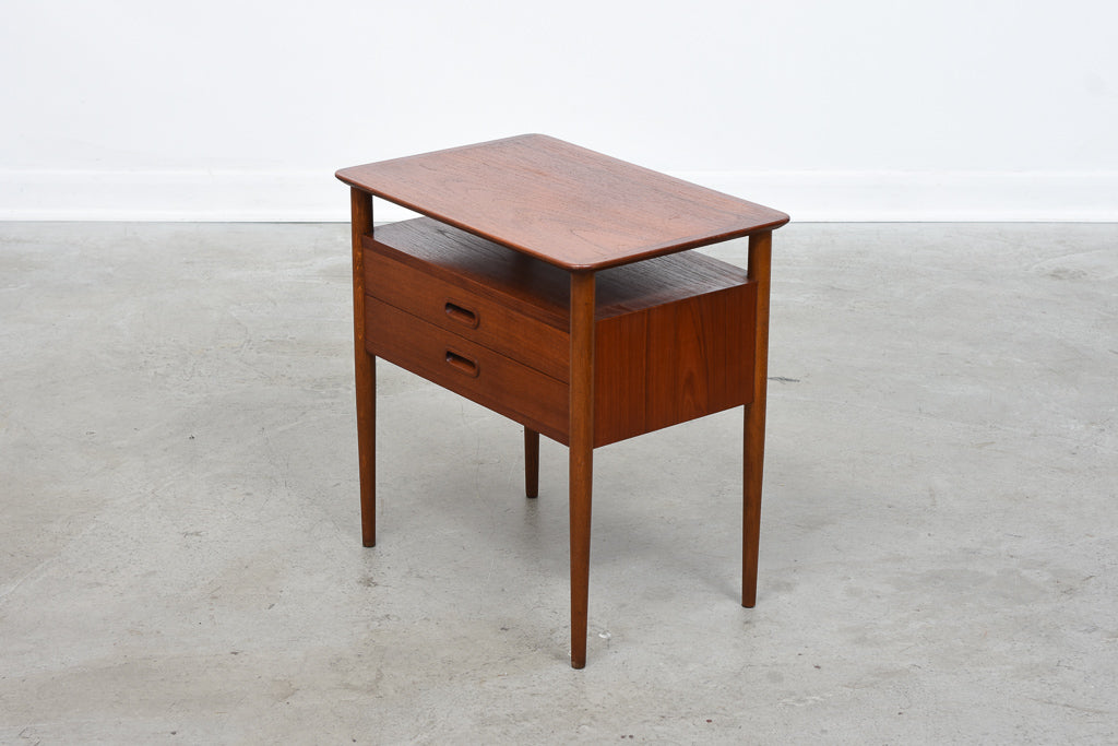 1960s teak hallway chest/bedside table