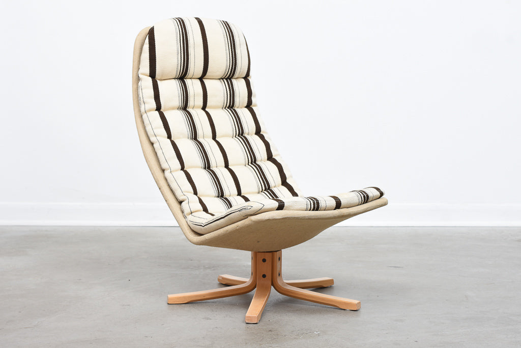 1960s swivel lounger by Sam Larsson