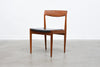 Set of four 1960s teak + vinyl dining chairs