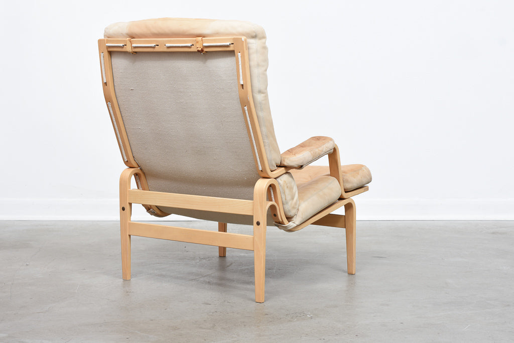 'Ingrid' lounger by Bruno Mathsson in beech + leather