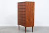 Tall teak chest of eight drawers