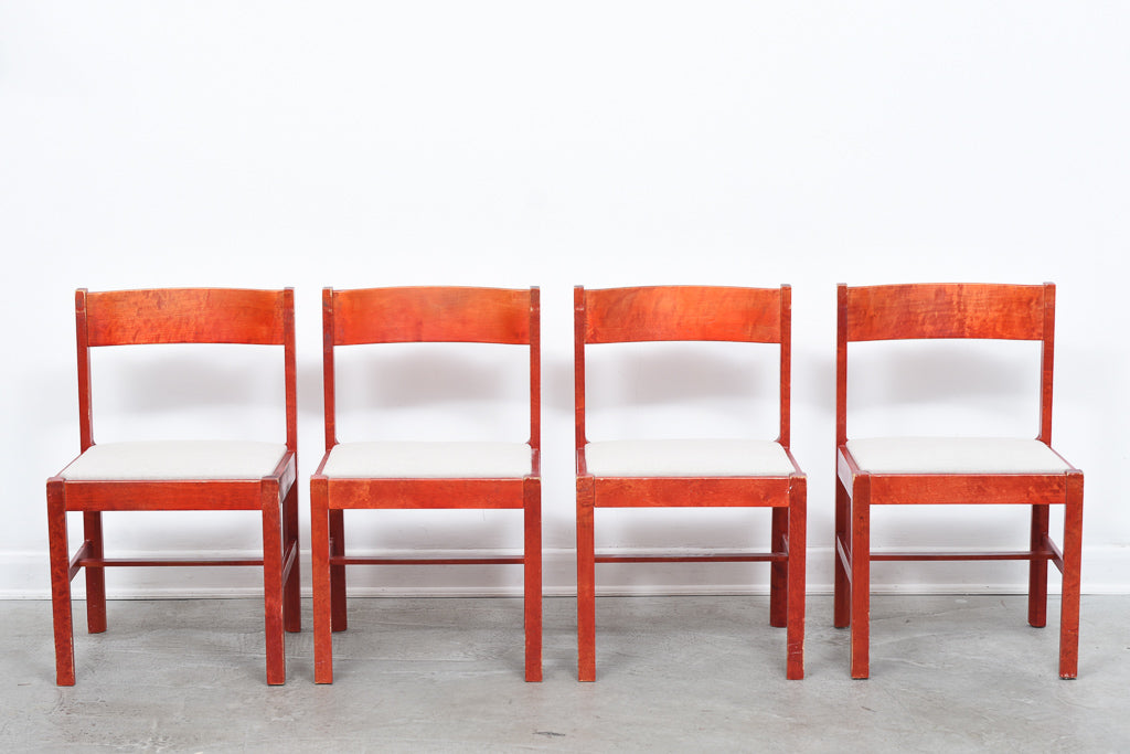 Set of four 1970s dining chairs by Edsbyverken