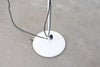 Vintage twin-headed floor lamp in black + white