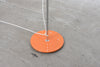 1960s Danish floor lamp with orange finish