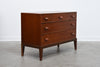 Low chest of drawers in teak