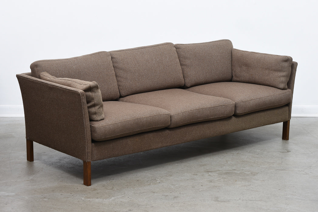 Three seat wool sofa by Erik Jørgensen