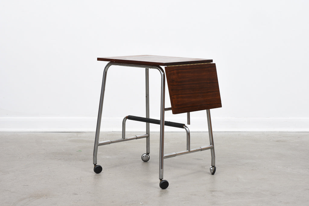 Rosewood typist trolley