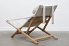 Folding deck chair by Lauge Vestergård