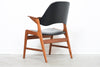 1960s teak armchair with curved back