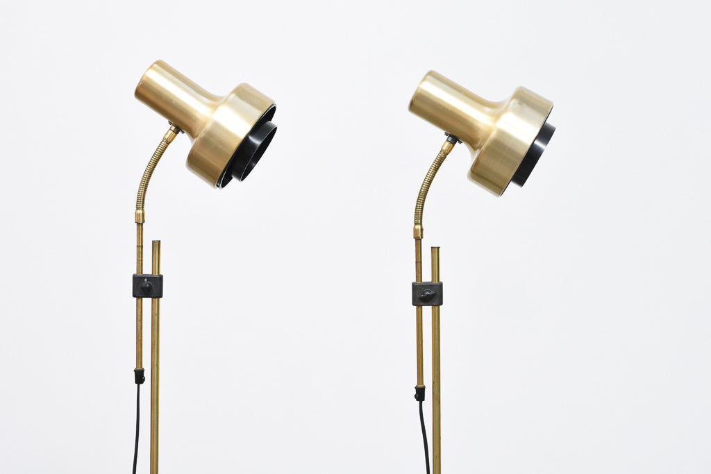Two available: Pair of vintage brass floor lights
