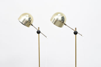 Two available: Pair of 1960s Swedish floor lights