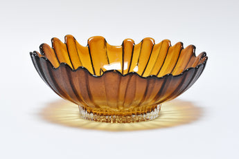 1970s Finnish glass bowl by Tauno Wirkalla